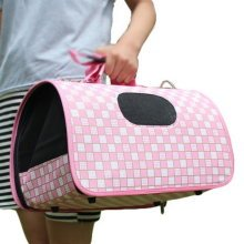 M Size Carry Bag Sweet Cute Pet Home Dog Cat Carrier House Travel---Pink