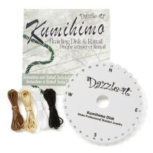 Dazzle-It! Round Kumihimo Starter Set - Includes 4 Colours of Rattail (2yds Each) & Instructions