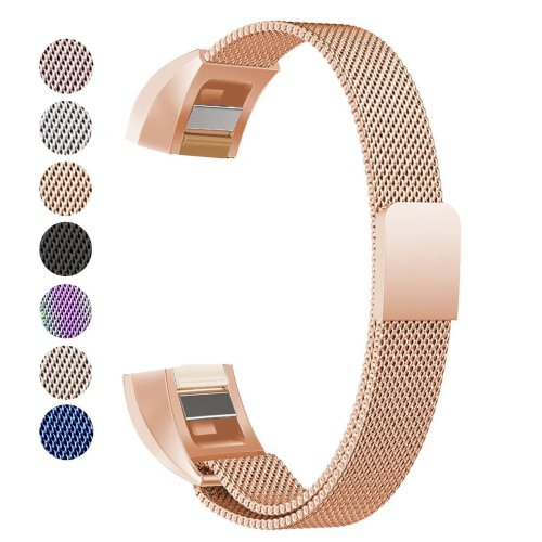 Fitbit Alta HR Band & Alta Band, BeneStellar Milanese Loop Stainless Steel  Wrist Band Replacement Strap for Fitbit Alta HR & Fitbit Alta (Rose Gold)