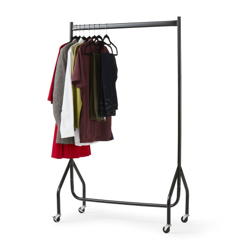 3ft x 5ft Wheeled Clothes Rail | Steel Hanging Clothes Rail