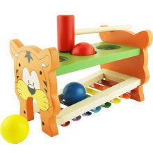Hammer Percussion Hand Knock Children Music Toy Piano--Tiger
