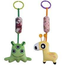 [Monster and Giraffe] Baby Room Decor Stroller Toys, 2PCS