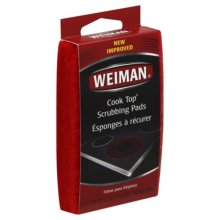 WEIMAN COOK TOP SCRUB PAD-3 PC -Pack of 6