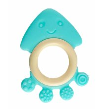 Baby Teether, Safety Baby Teeth Stick For 3-12 months Blue Octopus