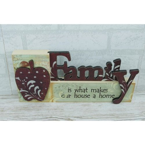 Plaque Family is What Free standing Cut Out Block