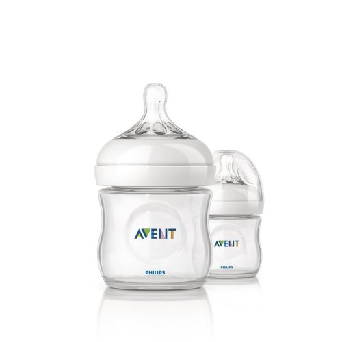 Philips Avent Natural Feeding Bottle 125ml Twin Pack Scf690/27