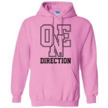 XL Ladies Pink One Direction Athletic Logo Hooded Top -