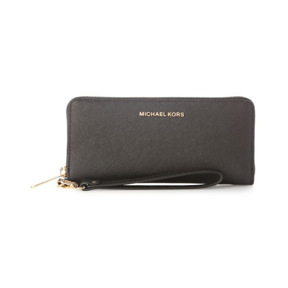 103080cb7534a Michael Kors Jet Set Travel Saffiano Leather Continental Wallet - Black -  32S5GTVE9L-001.
