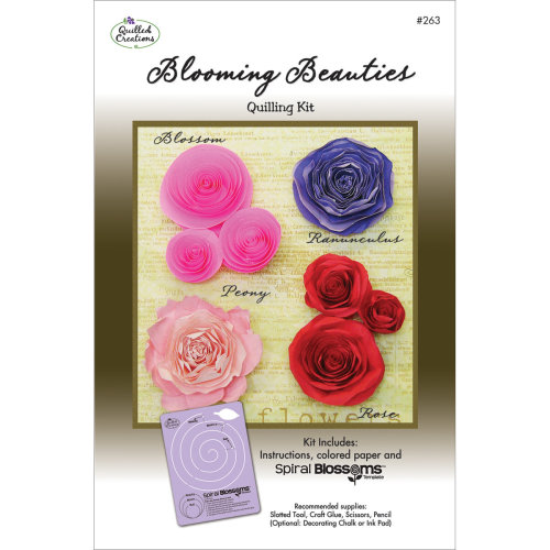 Quilled Creations Quilling Kit-Blooming Beauties