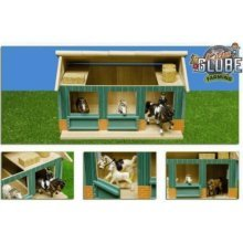 * 1:24 Wooden Horse Stable With 2 Boxes & Workshop - Globe Fattoria -  globe fattoria manegcavalli44x32x25 toys