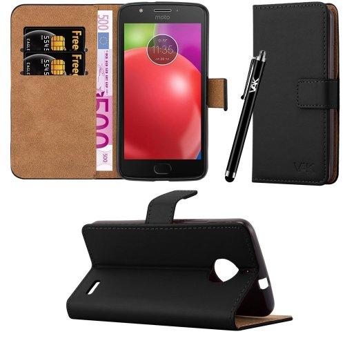 For Motorola Moto E4 Premium Leather Case Cover