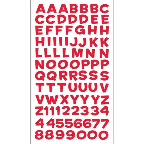 Sticko Alphabet Stickers-Fun House Red Metallic