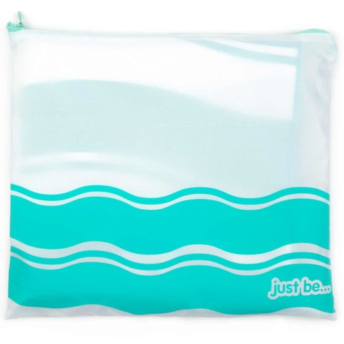 just be... Microfibre Wave Beach Towel - Green XX Large 200 x 90cm
