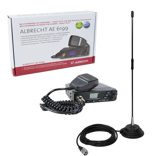 CB Radio base Albrecht AE 6199 ASQ + CB  antenna PNI Extra 40 with magnetic base