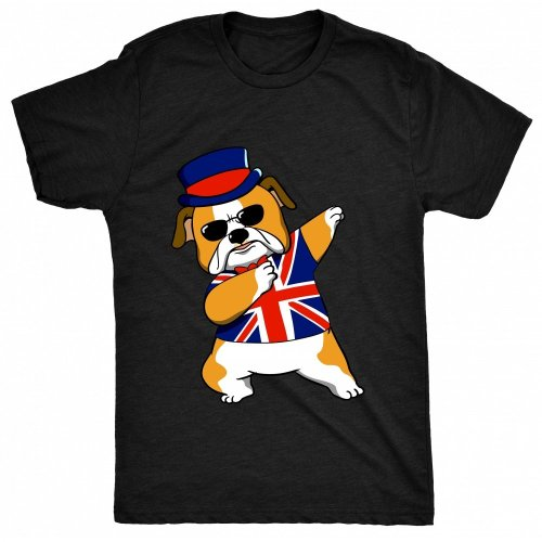 8TN Dabbing British Bulldog Womens T Shirt