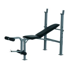 Homcom Adjustable Multi Gym Chest Leg Arm Weight Bench w/ 4 Incline Postions - Black / Silver