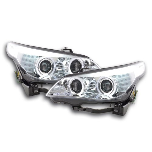 Angel Eye Headlight  LED Xenon BMW serie 5 E60/E61 Year 05-08 chrome RHD