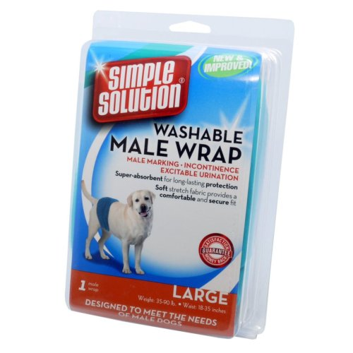 Simple Solution Dog Male Washable Wrap Large
