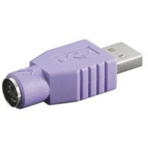 Microconnect USBA-M/PS2-F USB A PS2 Violet cable interface/gender adapter