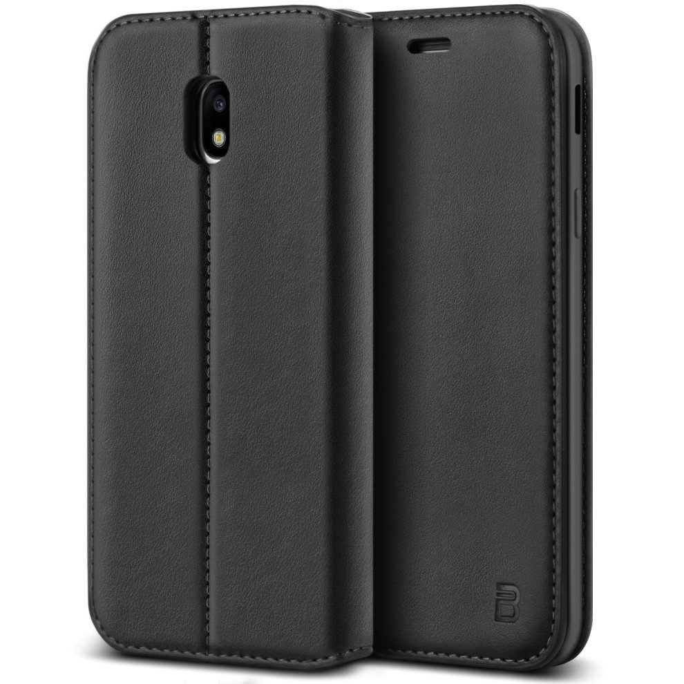 new products 9ca50 b22e1 BEZ Samsung J3 2017 Phone Case, Protective PU Leather Wallet Flip Phone  Cover for Samsung Galaxy J3 2017 with Card Holder, Kick Stand, Magnetic...