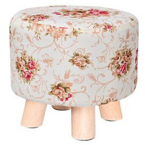 Creative Wood Linen for Shoe Stool Household Stool Round stool Children Adults Apply, Flower