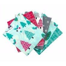 Fat Quarter Bundle - 100% Cotton - Winter Wonderland - Pack of 6