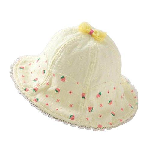 Strawberry-2  Baby Girls Sun Hat Summer Bucket Hat Baby Fisherman Cap a3a0aeabca63