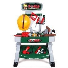 deAO Kids Working Bench Tool Set / Children Play Tool Kits for Toddlers Workshop Tools Stand Playset full of accessories is the perfect bench for a little mechanic.  The set includes a range of tools and accessories that you could find in a real mech