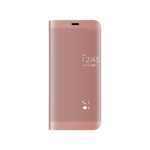the best attitude e8f73 25961 COQUE® Clear View Standing Case with Mirror Plating Flip Case for Huawei P  Smart (Rose Gold)