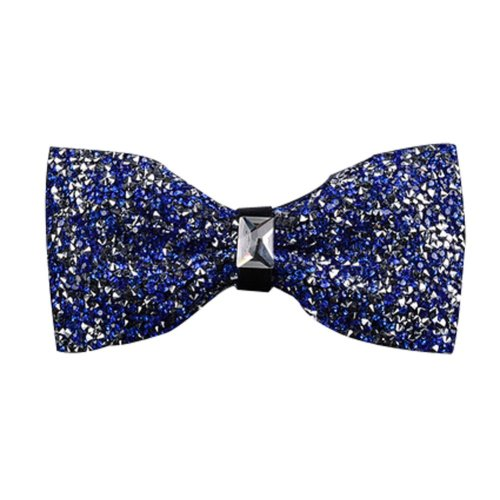 Luxury Neckties Man's Super Set Auger Bow Ties Fashion Bowtie Blue
