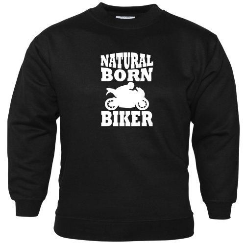 Natural Born Biker Unisex Sweatshirt Motorbike Accessories Biker Enthusiast Gift Idea