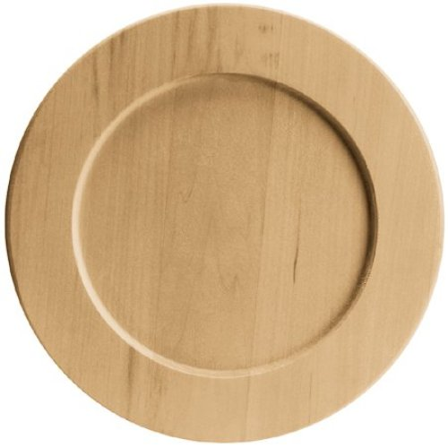 """Basswood Round Plate-9.5""""X9.5"""""""