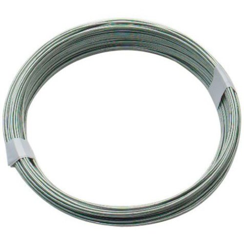 Bulk Hardware BH00323 Galvanised Coated Garden Wire, 0.9mm x 100 Metres (325ft) 19 Gauge .350 inch Thickness