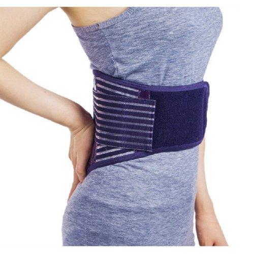 Warm Keeping Waist Brace for Women with Pad, Purple