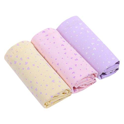 3PCS Cotton Adjustable Stomach Hold High-waisted Maternity Underwear, XXL