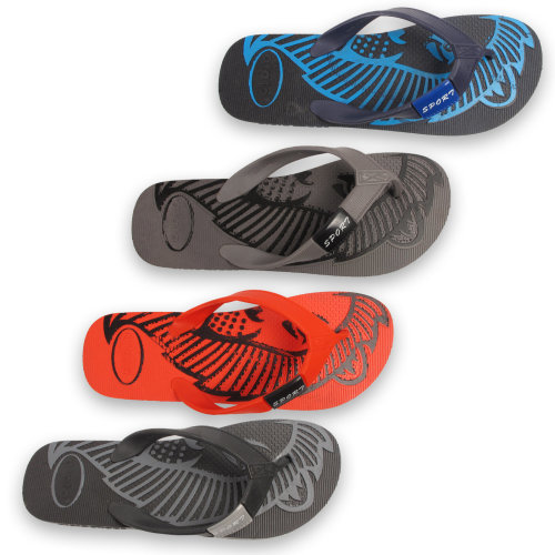 Mens Sport Flip Flops Rubber Toe Post Sandals