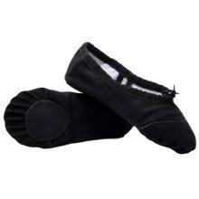 Kid & Adult Dance Ballet Slippers/Black Dancing Shoes