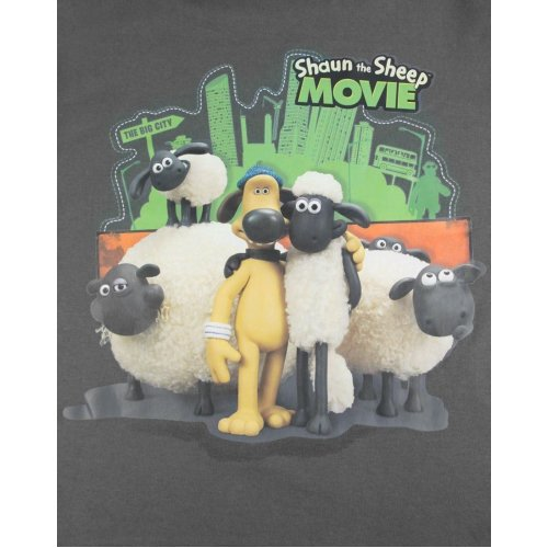 Boys Shaun The Sheep T-shirt |  MOVIE | Youth | 9-10 | DARK GREY