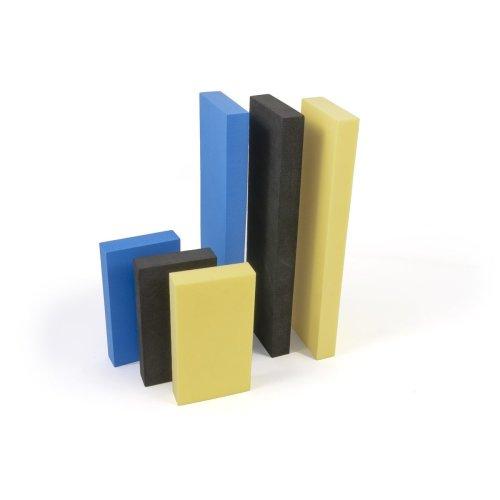 BenBow 6x Foam Flexible Sanding Blocks Yellow Blue Black 114X62X18MM 220X62X18MM Sanding Block Eilblock Buffer Sanding Blocks