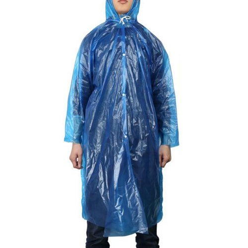 Disposable Plastic Raincoat Travel Camping Rainwear Emergency Waterproof 5 Pcs