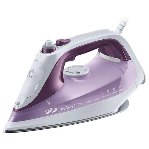 Braun SI7066VI Texstyle 7 Pro Steam Iron, 300 ml, 2600 W Purple/White