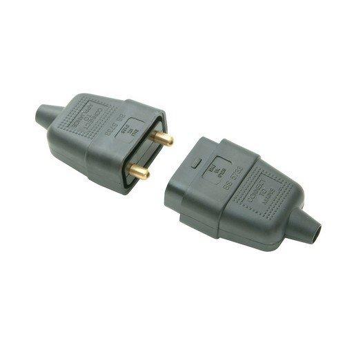 SMJ RC2PBC Black Plug & Socket 10A 2 Pin