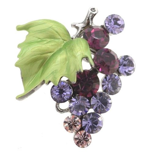 02206fe708e Fantasyard Multi Bunch of Grapes Swarovski Crystal Pin Brooch - Purple -  1.125 x 1.25 in. on OnBuy