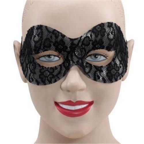 Black Lace Domino Eye Mask.