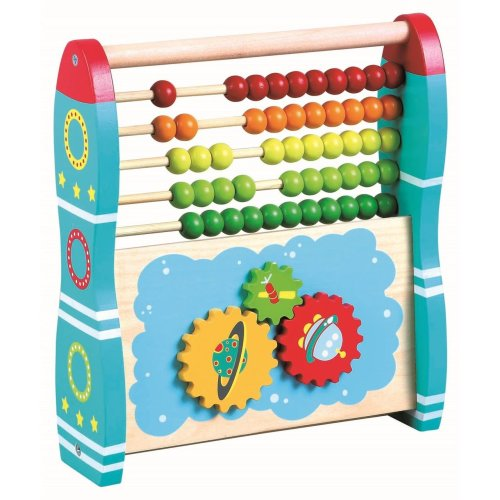 Lelin Wooden 2-in-1 Abacus - Rocket | Wooden Abacus Toy