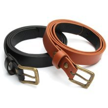 Women Ladies Faux Leather Casual Pin Buckle Thin Skinny Waist Strap Belts