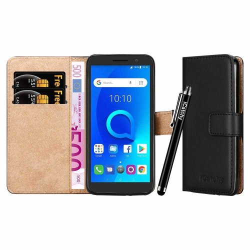For Alcatel 1 Wallet Book Leather Folio Case Cover
