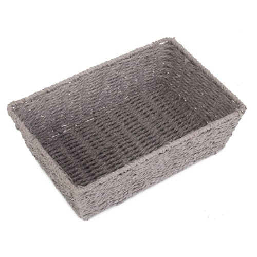 Large Grey Paper Rope Serving Tray