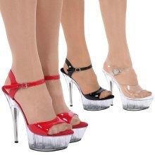 Charmaine Womens High Stiletto Heel Platform Sandals
