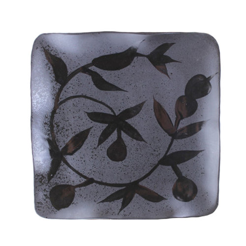 "Creative Hand-Painted Ceramic Square 8.5"" Plate G"